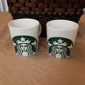 Pair of Starbucks Mermaid Siren Mugs 14 oz.